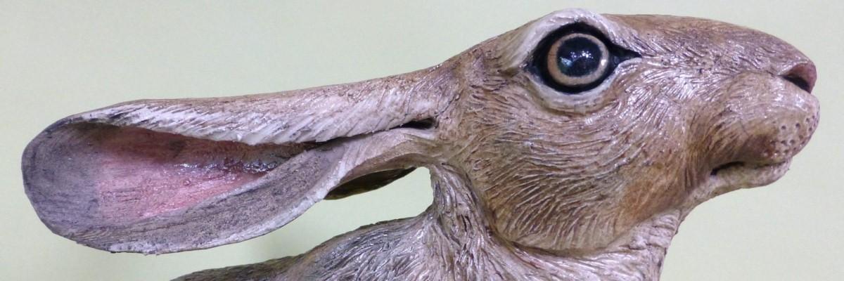 Sallie Wakley, hare sculpture