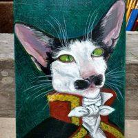 Oriental cat portrait