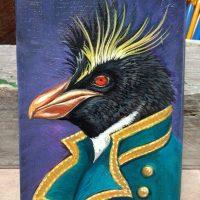 Penguin Portrait on wood